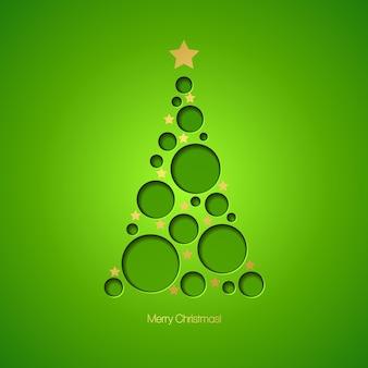 Cartão de natal com árvore de natal. ilustração vetorial eps 10