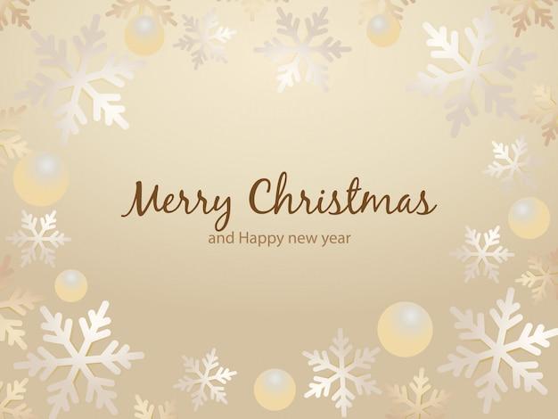 Cartão de natal com borda de flocos de neve.