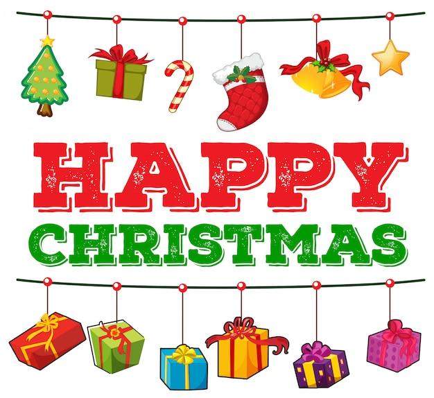 Cartão de natal com caixas de presentes