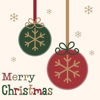 Cartão de natal com decoração de bugigangas