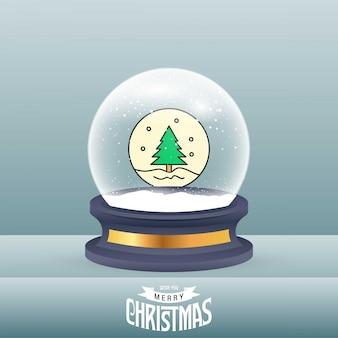 Cartão de natal com elegante criativo
