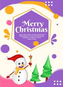 Cartão de natal com fundo abstrato