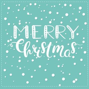 Cartão de natal com letras desenhadas à mão. vector cartão de natal. letras desenhadas à mão.