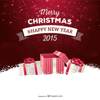 Cartão de natal com presentes
