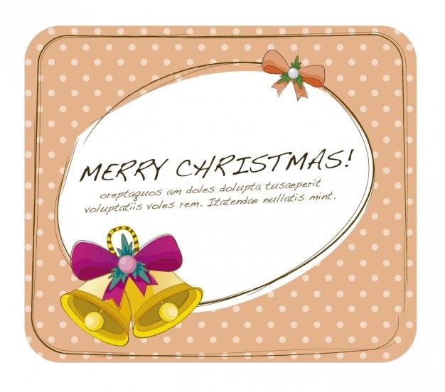 Cartão de natal com sinos
