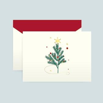 Cartão de natal com um vetor de envelope