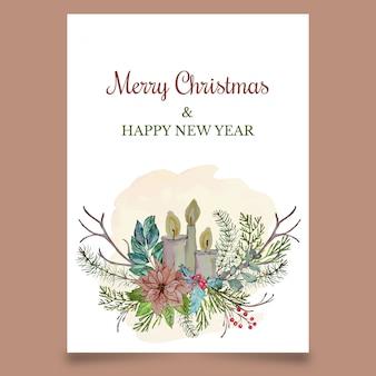 Cartão de natal com velas