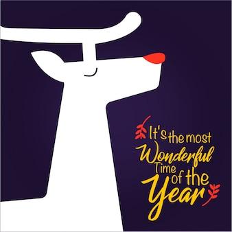 Cartão de natal de rudolph