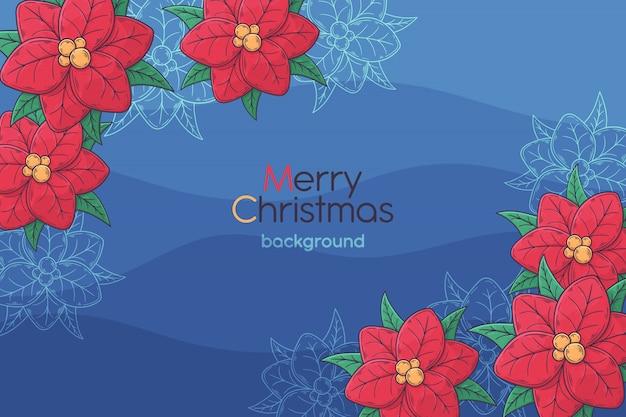 Cartão de natal desenhada de mão