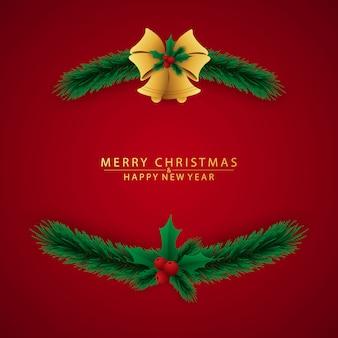 Cartão de natal e feliz ano novo lindamente decorado