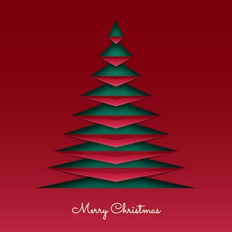 Cartão de natal em papel