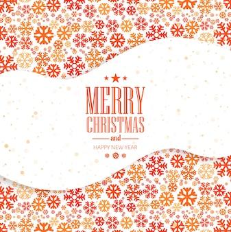 Cartão de natal flocos de neve fundo festival decorativo
