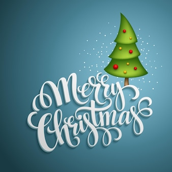 Cartão de natal. letras de feliz natal, ilustração vetorial eps 10
