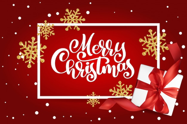 Cartão de natal. letras de feliz natal,