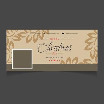 Cartão de natal ou design de cartaz. feriados da tipografia do feliz natal desejam a foto da capa do modelo do emblema do logotipo