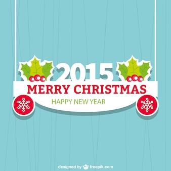 Cartão de natal plano para 2015