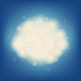 Cartão de natal retrô com ilustração de malha de gradiente