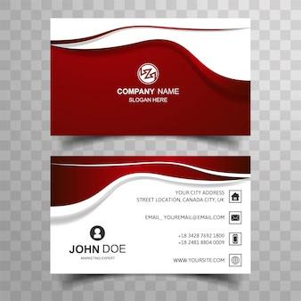 Cartão de negócio abstrato com design de onda