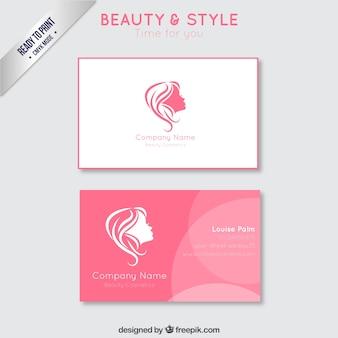 Cartão de negócio da beleza