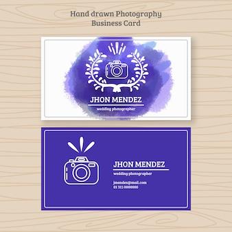 Cartão de negócio da fotografia com a aguarela