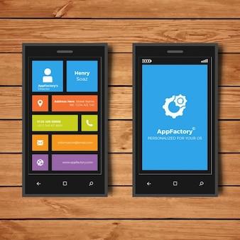 Cartão de negócio de smart phones