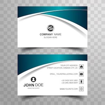 Cartão de negócio moderno com onda criativa