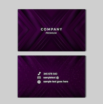 Cartão de negócios de luz de luxo