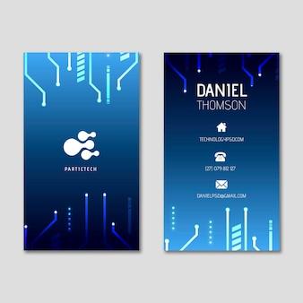 Cartão de negócios dupla-face de segurança cibernética v