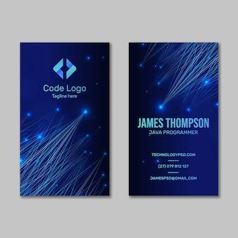 Cartão de negócios frente e verso de tecnologia