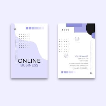 Cartão de negócios frente e verso geral