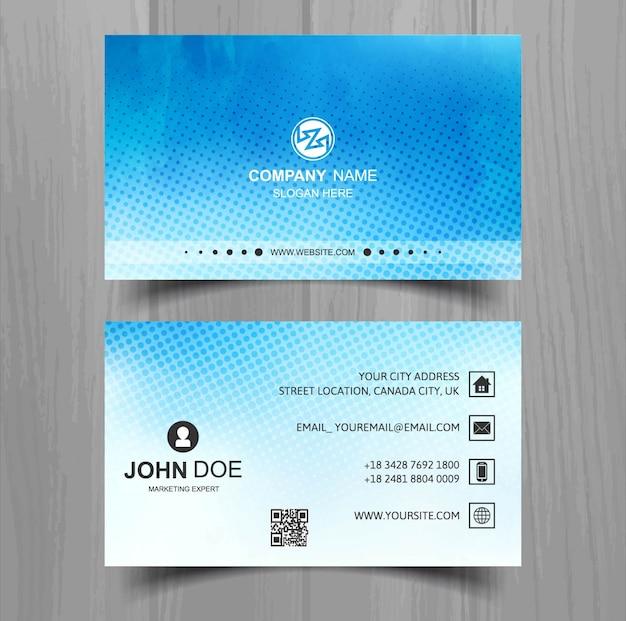 Cartão de negócios moderno aguarela