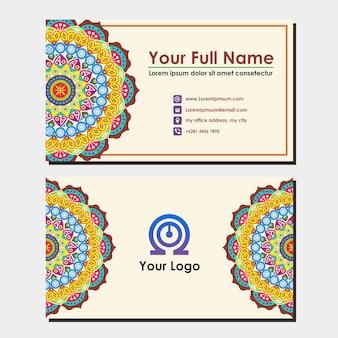 Cartão de nome com ornamento de mandala