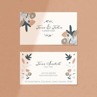 Cartão de nome de floricultura floral