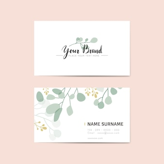 Cartão de nome floral