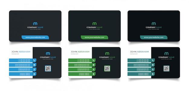 Cartão de nome moderno criativo e cartão de visita
