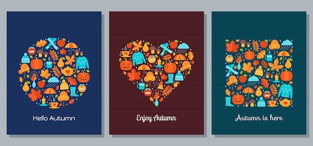 Cartão de outono. ilustração vetorial