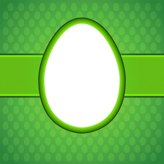 Cartão de ovo de páscoa.