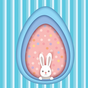 Cartão de ovo de páscoa