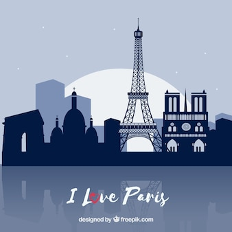 Cartão de paris como símbolo do amor
