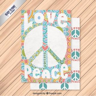 Cartão de paz abstrato no estilo colorido