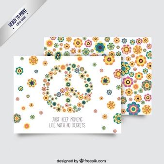 Cartão de paz colorido