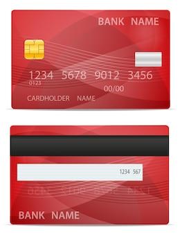 Cartão de plástico do banco isolado no fundo branco