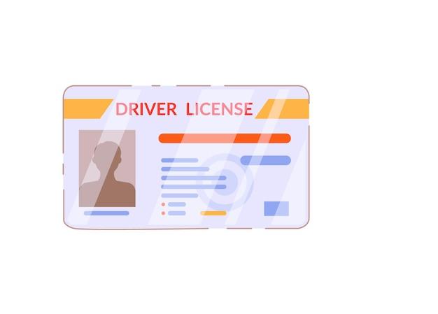 Cartão de plástico para carteira de habilitação isolado no fundo branco