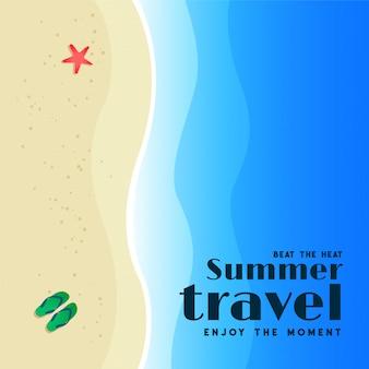 Cartão de praia de viagens de verão