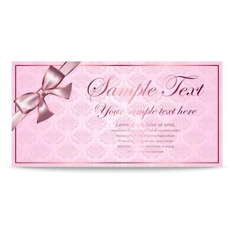 Cartão de presente, certificado, cupom, modelo de convite