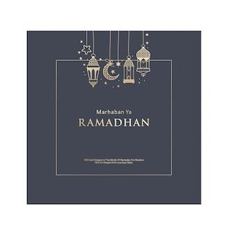 Cartão de presente de design elegante ramadhan