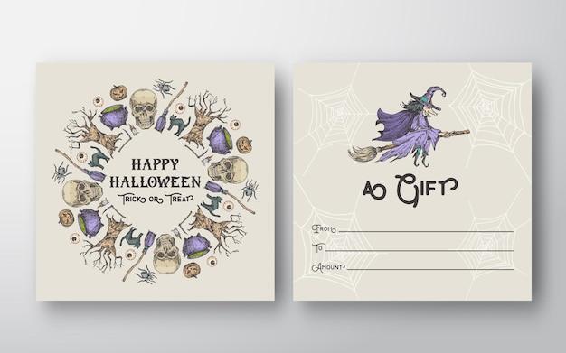 Cartão de presente de dia das bruxas