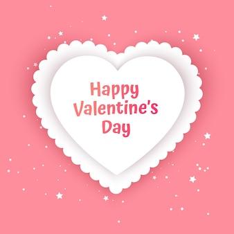 Cartão de presente de dia dos namorados amor feriado ilustração em forma de coração para feriados