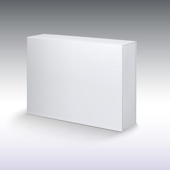 Cartão de produto branco, caixa de embalagem.