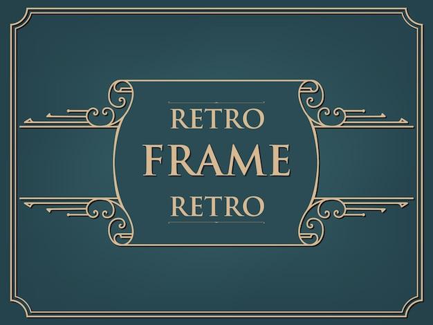 Cartão de quadro de estilo vintage